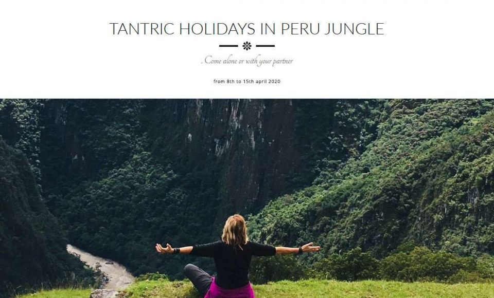 TANTRIC HOLIDAYS IN PERU JUNGLE