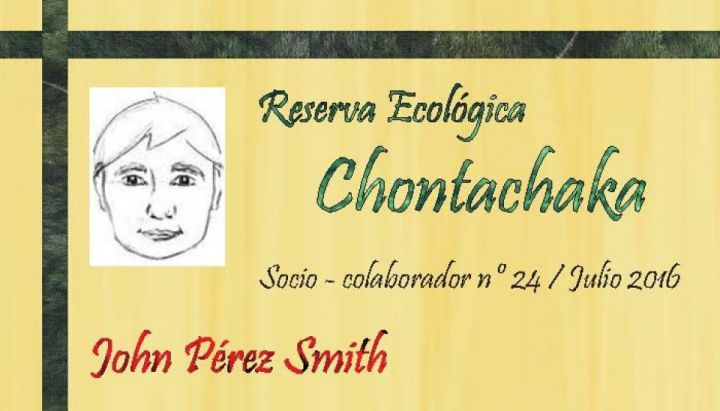 Now you can become collaborative partner of the chontachaka ecological reserve!