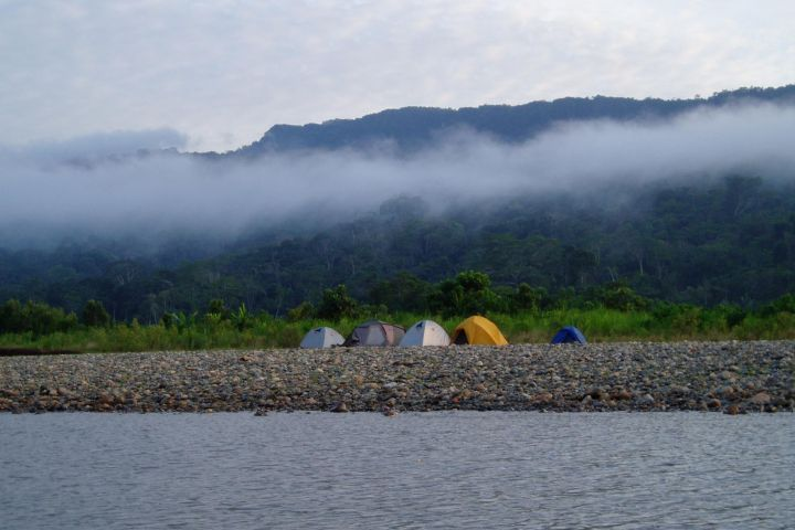 River camping at Manun National Park